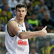 Fenerbahce Ulker's Darjus LAVRINOVIC during their Euroleague Basketball Top 16 Game 5 match Fenerbahce Ulker between Olympiacos at Sinan Erdem Arena in Istanbul, Turkey, Thursday, February 24, 2011. Photo by TURKPIX