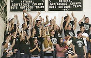 Cornwall fans cheer for the team during a game against Newburgh Free Academy in Cornwall on Feb. 16, 2007.