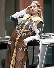 Gigi Hadid photo shoot in Tribeca - 31 May 2018