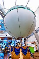 Interior view of the Anderson-Abruzzo Albuquerque International Balloon Museum, Balloon FIesta Park, Albuquerque, New Mexico USA