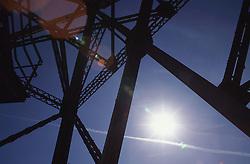 View of electricity pylon,