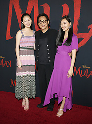 Jada Li, Jane Li and Jet Li at the World premiere of Disney's 'Mulan' held at the Dolby Theatre in Hollywood, USA on March 9, 2020.
