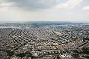 Nederland, Noord-Holland, Amsterdam, 17-06-2008; overzicht van de Amsterdamse binnenstad met de volledige 17e eeuws grachtengordel; onder in beeld (vlnr) Leidseplein, casino (met koepel) en voormalige Huis van Bewaring (de Balie) en het Rijksmuseum; centrum van de stad met daar boven het water van het IJ en Amsterdam-Noord; aan de horizon landelijk Noord en Waterland, het IJsselmeer; grachten.overview inner city /city centre with 'girdle of canals' or Grachtengordel, including the  three main waterways ñ Herengracht, Keizersgracht and Prinsengracht. luchtfoto (toeslag); aerial photo (additional fee required); .foto Siebe Swart / photo Siebe Swart