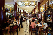 Cafe Tortoni is the most famous cafe in Buenos Aires, opened in 1858, it is very much a Porteno institution, and also known for its rude waiting staff. Buenos Aires, Argentina.