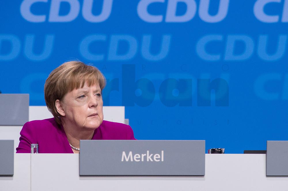 26 FEB 2018, BERLIN/GERMANY:<br /> Angela Merkel, CDU, Bundeskanzlerin, CDU Bundesparteitag, Station Berlin<br /> IMAGE: 20180226-01-016<br /> KEYWORDS: Party Congress, Parteitag