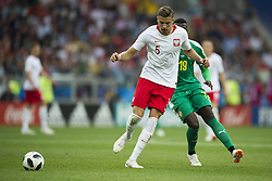 June 19, 2018 - Moscow - Jan Bednarek of Poland in action during the 2018 FIFA World Cup Group H match between Poland and Senegal at Spartak Stadium in Moscow, Russia on June 19, 2018  (Credit Image: © Andrew Surma/NurPhoto via ZUMA Press)