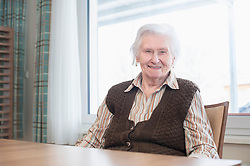 Senior woman at rest home