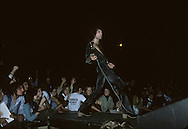 LOS ANGELES, CA - MAY 07: Freddie Mercury of Queen in concert at The Forum on MAY 7, 1976 in Los Angeles, California.