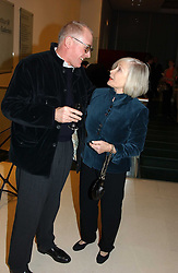 Art patron DORIS SAATCHI and RICHARD WENTWORTH at an exhibition of art entitled 'Royal Academicians in China: 2003-2005' held at the Royal Academy of Arts, Burlington House, Piccadilly, London on 11th January 2005.<br /><br />NON EXCLUSIVE - WORLD RIGHTS