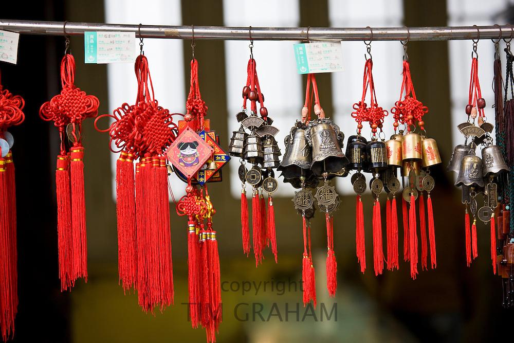 Souvenirs on sale at Big Wild Goose Pagoda, Xian, China