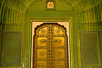 Intricate doorway, The City Palace, Jaipur, Rajasthan, India