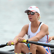 Poznan, POLAND,  GBR LW4X, Andrea DENNIS before competing in the lightweight women's quadruple sculls, race for lanes, on the fourth day of the, 2009 FISA World Rowing Championships. held on the Malta Rowing lake,Wednesday  26/08/2009  [Mandatory Credit. Peter Spurrier/Intersport Images]