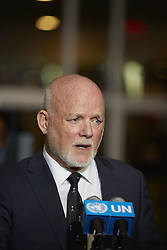 September 13, 2016 - New York, New York, United States - 71st President Peter Thomson of Fiji speaks during a press conference in UN headquarters in New York. (Credit Image: © Mark J Sullivan/Pacific Press via ZUMA Wire)