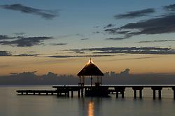 , French Polynesia - 10/22/2006 - Kia Ora Resort pier at dusk.(Photo by Sharpshooters/VWPics) *** Please Use Credit from Credit Field *** *** Please Use Credit from Credit Field ***