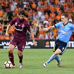 BRISBANE, AUSTRALIA - FEBRUARY 3: Thomas Broich of the Roar dribbles the ball during the round 18 Hyundai A-League match between the Brisbane Roar and Sydney FC at Suncorp Stadium on February 3, 2017 in Brisbane, Australia. (Photo by Patrick Kearney/Brisbane Roar)
