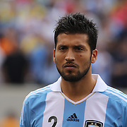 Ezequiel Garay, Argentina, during the Brazil V Argentina International Football Friendly match at MetLife Stadium, East Rutherford, New Jersey, USA. 9th June 2012. Photo Tim Clayton