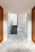 Architecture, Interiors of empty apartment, hall with staircase