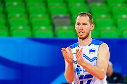 Tine Urnaut of Slovenia during volleyball match between Cuba and Slovenia in Final of FIVB Volleyball Challenger Cup Men, on July 7, 2019 in Arena Stozice, Ljubljana, Slovenia. Photo by Matic Klansek Velej / Sportida