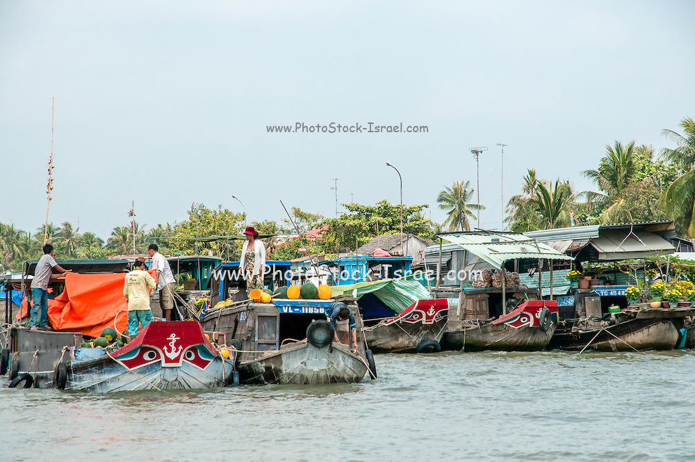 The floating market, Can Tho, Vietnam