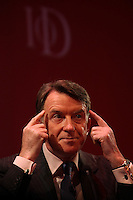 .Institute of Directors Annual Convention 2010.Lord  Mandelson speaking at the convention....