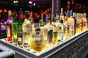 Back lit alcohol bottles