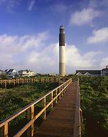 AA05899-04...NORTH CAROLINA - Oak Island Lighthouse on Long Bay near the mouth of the Cape Fear River.