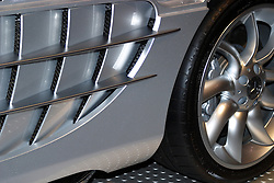 2005 CATA (Chicago Auto Show), wheel and vent fin of Mercedes Benz concept vehicle