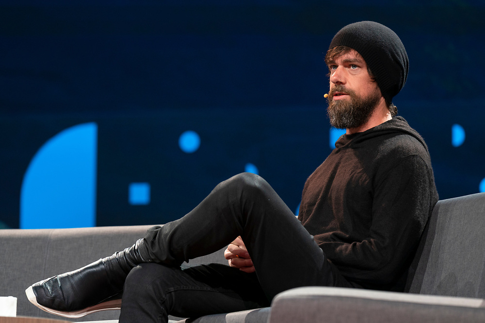 Jack Dorsey speaks at TED2019: Bigger Than Us. April 15 - 19, 2019, Vancouver, BC, Canada. Photo: Bret Hartman / TED