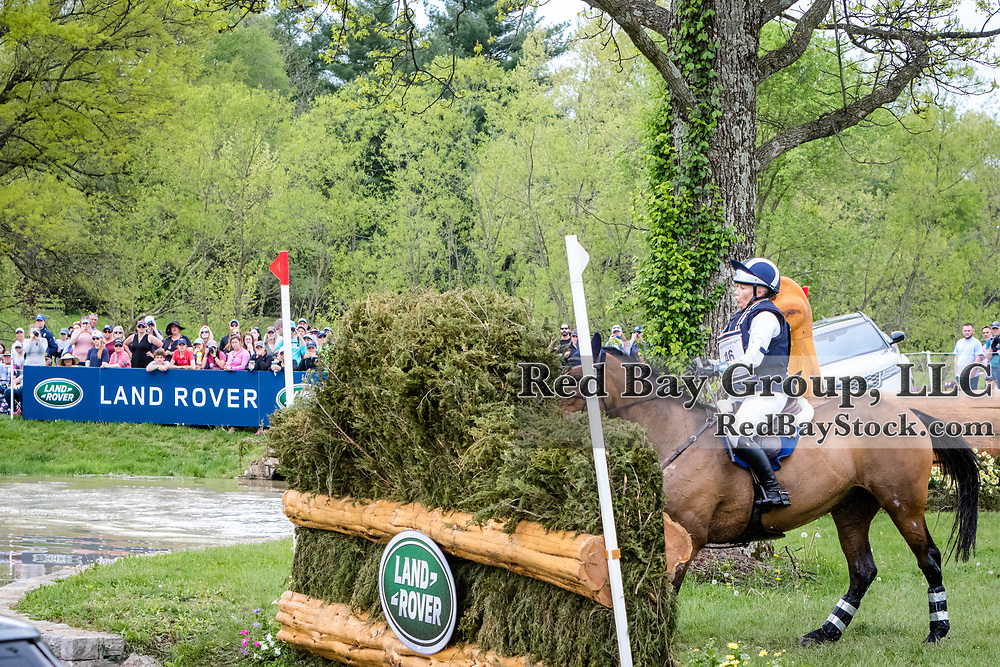 Hawley Bennett-Awad (CAN) and Jollybo during the cross-country phase of the 2018 Land Rover Kentucky Three-Day Event in Lexington, Kentucky