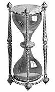 16th century hourglass: 19th century engraving