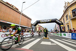 The cyclists near finish line during 1st Stage of 25th Tour de Slovenie 2018 cycling race between Lendava and Murska Sobota (159 km), on June 13, 2018 in  Slovenia. Photo by Matic Klansek Velej / Sportida