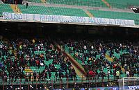 """striscione contro l'orario della partita alle 12:30<br /> Milano 28/11/2010 Stadio """"Giuseppe Meazza""""<br /> Campionato Italiano Serie A 2010/2011<br /> Inter vs Parma<br /> Foto Luca Pagliaricci Insidefoto"""