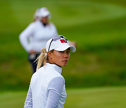 Auchterarder, Scotland, UK. 14 September 2019. Saturday afternoon Fourballs matches  at 2019 Solheim Cup on Centenary Course at Gleneagles. Pictured; Danielle Kang of Team USA.  Iain Masterton/Alamy Live News