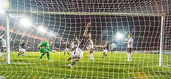 Falkirk's Bob McHugh celebrates after scoring their second goal. Falkirk 3 v 1 St Mirren, Scottish Championship game played 3/12/2016 at The Falkirk Stadium.
