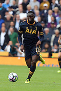 Victor Wanyama of Tottenham Hotspur in action. Premier league match, Stoke City v Tottenham Hotspur at the Bet365 Stadium in Stoke on Trent, Staffs on Saturday 10th September 2016.<br /> pic by Chris Stading, Andrew Orchard sports photography.