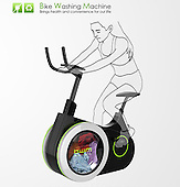 Bike Doubles as Washing Machine to Clean Your Clothes as You Exercise