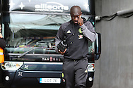 N'Golo Kante of Chelsea arrives off the team bus ahead of the game. Premier league match, Swansea city v Chelsea at the Liberty Stadium in Swansea, South Wales on Sunday 11th Sept 2016.<br /> pic by  Andrew Orchard, Andrew Orchard sports photography.