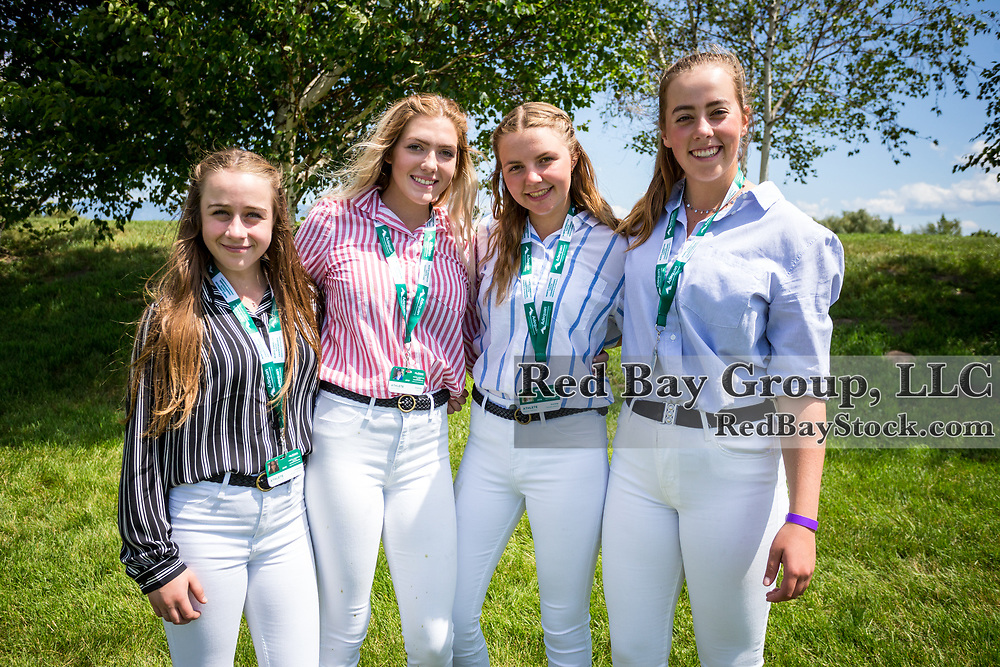 Team Alberta members, Megan Yakiwchuk, Jade Graham, Mikayla Hoffman and Anna Rekrutiak at the North American Youth Championships held during the The Event at Rebecca Farm in Kalispell, Montana.