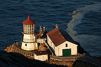 Morning Light at Point Reyes Lighthouse. Point Reyes National Seashore. Image taken with a Nikon D3x and 180 mm f/2.8 lens (ISO 100, 180 mm, f/4, 1/250 sec).