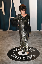Joan Collins attending the Vanity Fair Oscar party at Wallis Annenberg Center for the Performing Arts on February 09, 2020 in Beverly Hills, Los Angeles, CA, USA, February 9, 2020. Photo by David Niviere/ABACAPRESS.COM