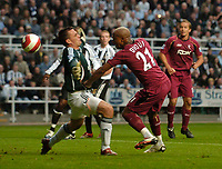 Photo: Jed Wee.<br /> Newcastle United v Bolton Wanderers. The Barclays Premiership. 15/10/2006.<br /> <br /> Bolton's El Hadji Diouf (R) scores his second goal in quick succession to turn the game on its head.