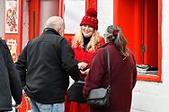 Programme seller at The County Ground during the EFL Sky Bet League 2 match between Swindon Town and Yeovil Town at the County Ground, Swindon, England on 10 April 2018. Picture by Graham Hunt.