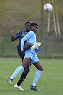 Leeds United midfielder Nohan Kenneh battles for possessionduring the U18 Professional Development League match between Coventry City and Leeds United at Alan Higgins Centre, Coventry, United Kingdom on 13 April 2019.