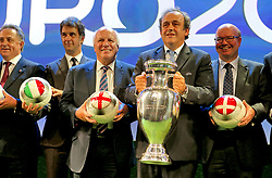 File photo dated 19-09-2014 of UEFA President Michel Platini and the European Championship trophy. Issue date: Tuesday June 1, 2021.