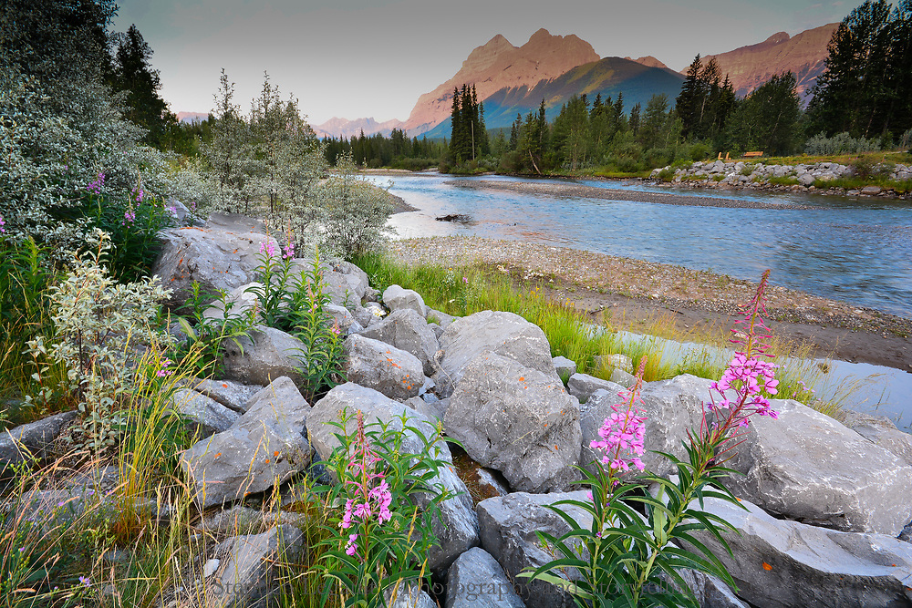 Kananaskis River and Mount Kidd, Alberta