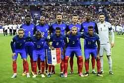August 31, 2017 - Paris, France, France - equipe de FRance en debut de match (Credit Image: © Panoramic via ZUMA Press)