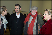 RUPERT EVERETT; ANTHONY PAIGE, Private view for A Strong Sweet Smell of Incense<br /> A Portrait of Robert Fraser, Curated by Brian Clarke. Pace Gallery. 6 Burlington Gardens. London. 5 February 2015.