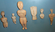 Minoan Cycladic sculptured figures from Amorgos the easternmost island of the Greek Cyclades island group. circa 1700-1400 BC