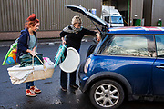 Volunteers from Longton Community Church working to improve the lives of those in need in their local community, Leyland, Lancashire.