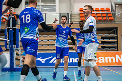 Team Lycurgus celebrate during the supercup final between Amysoft Lycurgus - Active Living Orion on October 04, 2020 in Van der Knaaphal, Ede